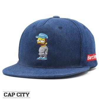 Cap City Unisex Hip-hop Bart Simpson Snapback (Dark Blue)