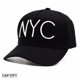 Cap City Unisex Hip Hop NYC Sports Cap (Black/White)