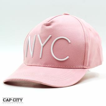 Cap City Unisex Hip Hop NYC Sports Cap (Pink/White)