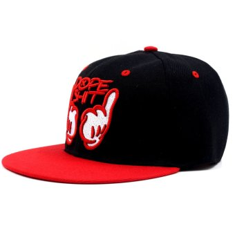 Cap City Unisex Hip-hop Snapback Dope Baseball Cap (Red) - 3