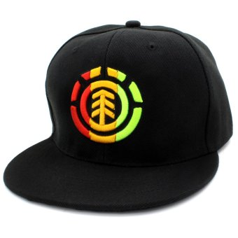 Cap City Unisex Hip-hop Snapback ELEMENT Baseball Cap (Black)