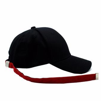 Cap City Unisex Korean Style NY New York Long Clip Strap Adjustment Basball Cap (Black) - 3
