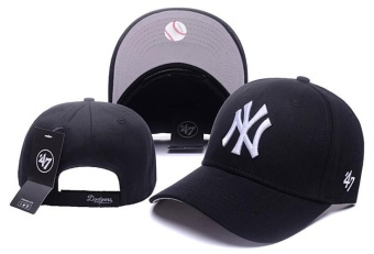 Caps New York Yankees Sunhat Hats Snapbacks Fashion Women Men MLB Unisex Baseball Team Lover Sports Hip-hop Cool Boys Newest-One Size(Black) - intl