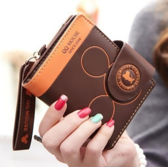 Cartoon Style Purse Fashion Cute Women's Wallet PU Leather Coin Purse Womens Bag(coffee) - intl