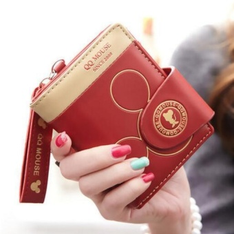 Cartoon Style Purse Fashion Cute Women's Wallet PU Leather CoinPurse Womens Bag(red) - intl