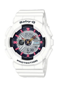 Casio Baby-G Women's WHITE Resin Strap Watch BA-110SN-7A