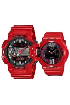 Casio G-Shock and Baby-G Couple Red Resin Strap Watch GBA-400-4A & BGA-160-4B Price Philippines