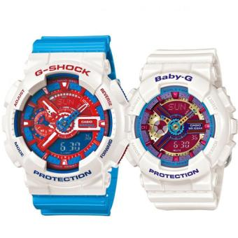 Casio G-Shock GA-110AC-7A and Baby-G BA-112-7A Couple Resin StrapWatch Blue Price Philippines