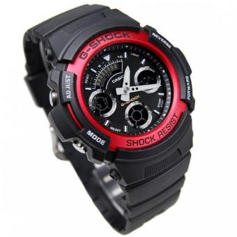 Casio G-Shock Men's Red Resin Strap Watch AW-591-4