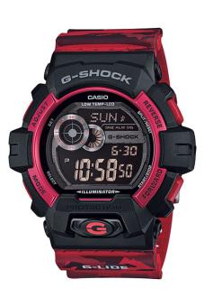 Casio G-Shock Men's Red Resin Strap Watch GLS-8900CM-4
