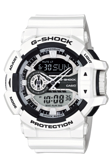 Casio G-Shock Mens' White Resin Strap Watch GA-400-7A