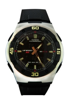 Casio Men's Black Rubber Strap Watch AQ-164W-1AVDF