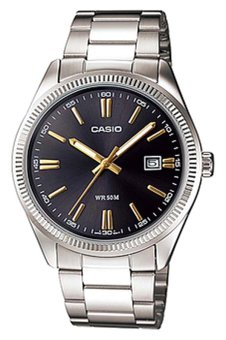 Casio Men's Silver Stainless Steel Strap Watch MTP-1302D-1A2VDF