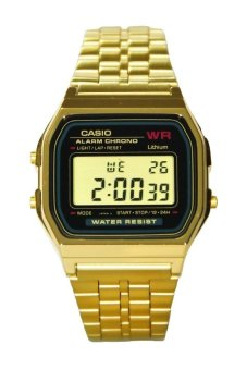 Casio Unisex Gold Stainless Steel Strap Watch A159WGEA-1DF