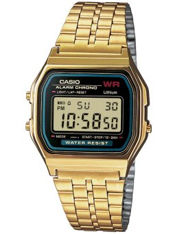 Casio Unisex Gold Stainless Steel Strap Watch A159WGEA-1DF - picture 1