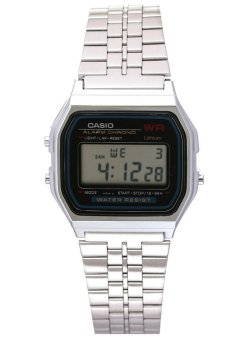 Casio Unisex Silver Stainless Steel Strap Watch A159W-N1DF