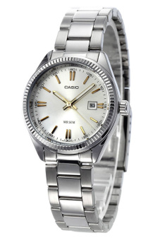 Casio Women's Silver Stainless Steel Strap Watch LTP-1302D-7A2VDF