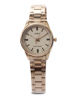 Casio Women's Gold Stainless Steel Strap Watch LTP-V005G-9A