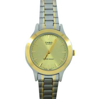 Casio Women's Two-Tone Stainless Steel Strap Watch LTP-1128G-9ARDF