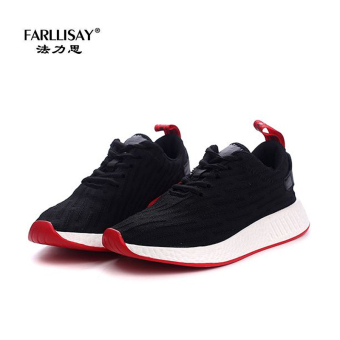 Casual couple's breathable sports shoes elevator women's shoes (Women's + Black)