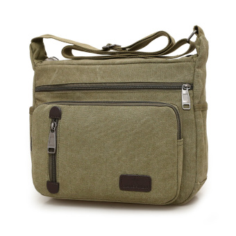 c2c7aafa49 casual cross business men s bag men s messenger bag (dark green color)