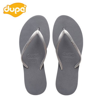 Casual female flat heel sandals slip sandals slippers (Senior gray)
