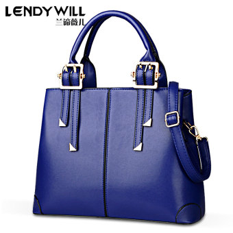 Casual large capacity large bag women's bag (Mysterious blue)