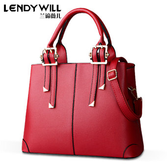 Casual large capacity large bag women's bag (Wine red color)