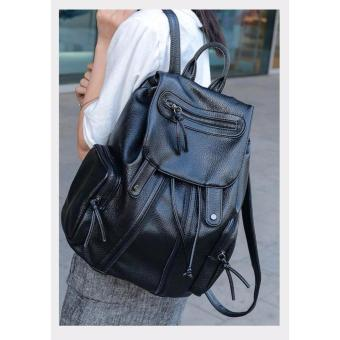 Casual Leather Drawcord Design Backpack School Bag Price Philippines