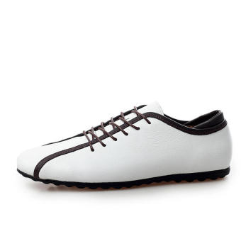 Casual Leather Lace-Ups Shoes -White - picture 2