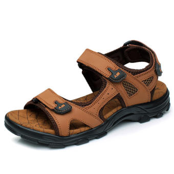 Casual Leather Sandals Light brown