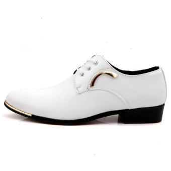Casual Men Formal Business Shoes - White - picture 2