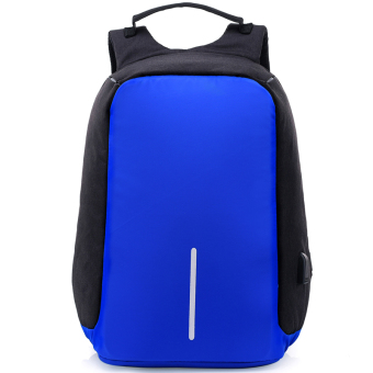 Casual multi-functional travel men's backpack (Dark blue color single product)