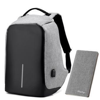 Casual multi-functional travel men's backpack (Senior gray suit 4)
