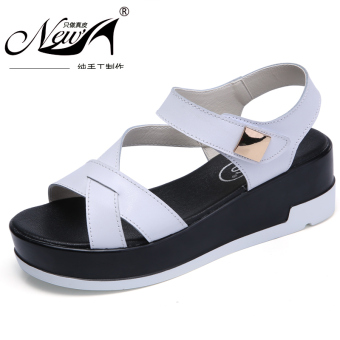 Casual New style summer flat sandals women's sandals (White)