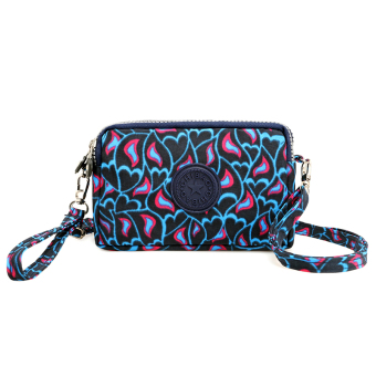 Casual nylon cross-body women's bag women's wallet (Blue lovely)