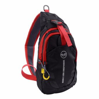 Casual Outdoor Nylon Sling Bag Shoulder Backpack Cross Body ChestPack for Men and Women(Black) - intl