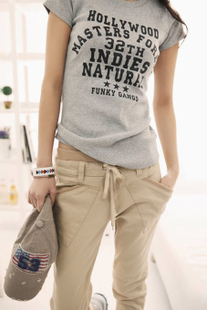 Casual Sports Harem Pants (Khaki) - 2