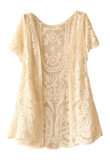 Casual Summer Lace Cardigan (Beige)