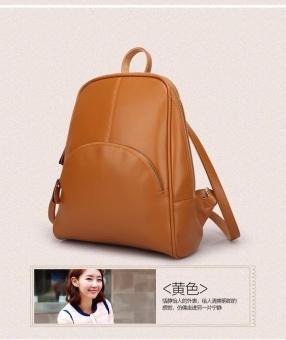 Casual Women PU Leather Backpack School Bag (Brown) - intl - 2