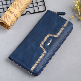 Casual youth long wallet clutch bag (Sapphire blue color)