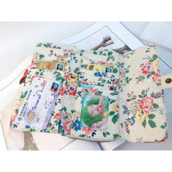 Cath King Fashion PVC Waterproof Printed Flower Multi-functionWallet Purse For Women Ladies Girls- Flowers - intl - 5