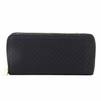 Cava C17MR751BK Grid Zip Around Wallet (Black) Price Philippines