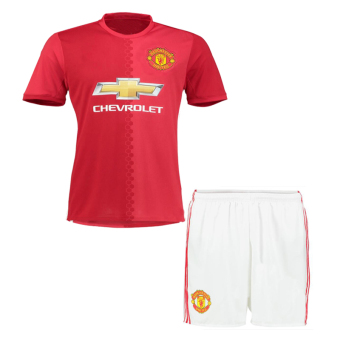 caxa Manchester United 2016-17 Home Red Kit Shirt & ShortsSoccer Jersey