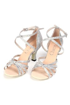 Chacott 4169 Lady' Latin Shoes (98.Silver)
