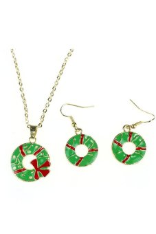 Chain Jewelry Bib Christmas Gift Necklace Earrings