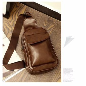 Chest Bag MEN Anti-theft Clasp Leather Bag Messenger Bag FashionMen's Bags