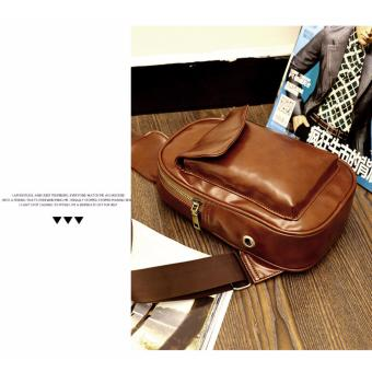 Chest Bag MEN Anti-theft Clasp Leather Bag Messenger Bag FashionMen's Bags - 2