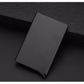 CHIC Slim Credit Card RFID Protector Purse Metal Case Wallet SecureMen & Women Black - intl - 2