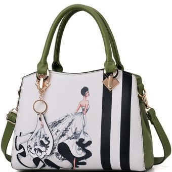 Chic Top Handle Bag (white&green) Price Philippines